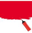 Red highlighter filling the frame vector image
