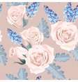 White roses seamless vector image