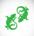 Image of an chameleon vector image