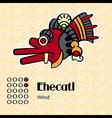 Aztec symbol Ehecatl vector image
