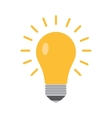 bulb icon in a flat style vector image