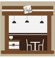 Cafe and shop facade vector image