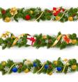 Christmas Border Set 5 vector image