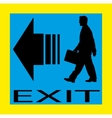 Exit emergency sign door with human figure label vector image