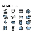 flat movie icons set vector image