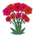 Flower bouquet fantastic floral bouquet vector image
