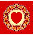 Mosaic Valentine vector image