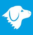 retriever dog icon white vector image