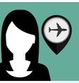 silhouette web internet pin vector image