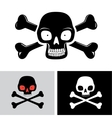 Skull with the bones vector image