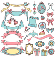 vintage ornaments vector image