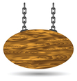 wood board and chain vector image