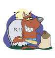 Werewolf Holding Club And Bag vector image vector image