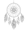 dreamcatcher on white background vector image