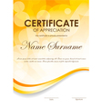 Certificate of appreciation template vector image vector image