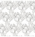 seamless black and white pattern of apples with vector image vector image
