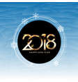 2018 new year and merry christmas background vector image