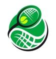 Tennis ball and racquet icon vector image vector image