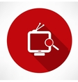 Searching Tv vector image vector image