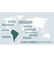 south american continent facts vector image