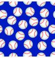 Baseball pattern vector image vector image