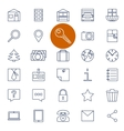 Set of outline icons for real estate sale vector image