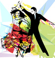 Latino Dancing couple vector image vector image