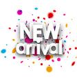 New arrival paper card vector image