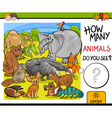 count animals activity for children vector image vector image