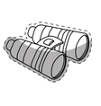 binoculars travel or military icon image vector image