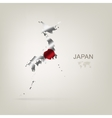 Flag of Japan as a country vector image