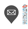 post office marker icon with free bonus vector image