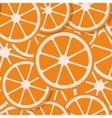 seamless background fresh orange in flat style vector image