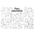 set of hallowen elements goast pumpkin vector image