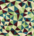 vintage triangle seamless pattern with grunge vector image