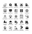 web hosting glyph icon designs 3 vector image