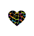heart with colorful polaroids vector image vector image