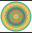 ornament multicolor card with mandala vector image