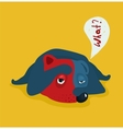 Funny Tired or Lazy Dog vector image vector image