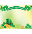 St Patrick Day background vector image