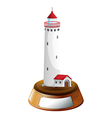 A tower decor with an empty template vector image vector image