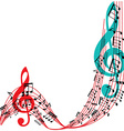 Music notes background stylish musical theme frame vector image