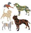 dog design set vector image