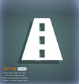 Road icon symbol on the blue-green abstract vector image