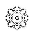 Sientific model of the atom sketch vector image vector image