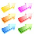 shiny arrows vector image