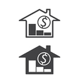 home price down vector image