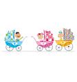 Cute babies vector image vector image