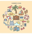 Summer Time Set of Summer Icons vector image