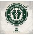 alternative eco footprint stamp vector image